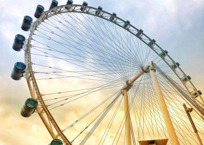 Riesenrad bei Marina Bay Sands