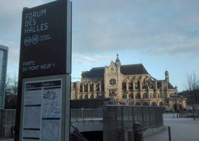 Saint-Eustache am Quartier des Halles
