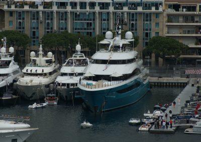 Die Yachten, die dieses Event anzieht, sind auch ganz nett :-D