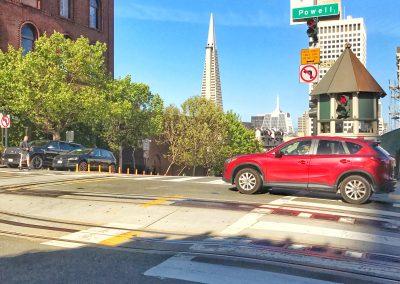 Blick auf Trans America Building von Powell Street