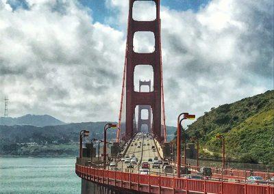 """""""Die Bridge"""" mit Blick Richtung San Francisco (Sausalito)"""