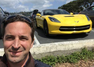 Schnittige Corvette in Sausalito