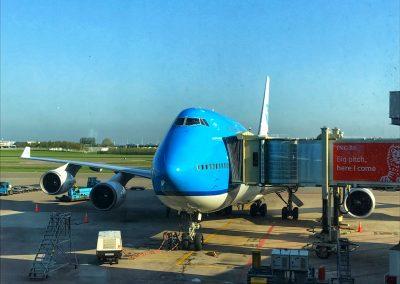 KLM Boeing 747-400 in Schiphol (KL 605)