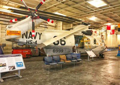 Mit diesem Helikopter wurden die drei Apollo 11 Astronauten auf die USS Hornet geflogen