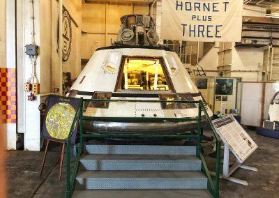 Hornet plus Three: Die Apollo 11 Astronauten Neil Armstrong, Michael Collins und Buzz Aldrin wurden von der USS Hornet im Süd-Pazifik aufgelesen und von President Nixon in Empfang genommen