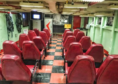 Briefing-Room für die Kampfpiloten