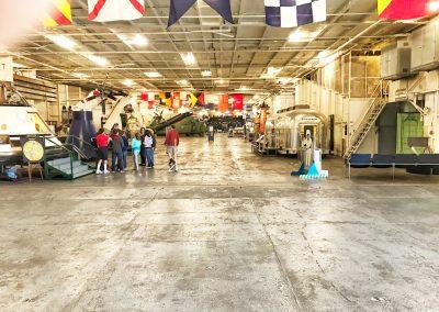 USS Hornet unter Deck (1. UG)