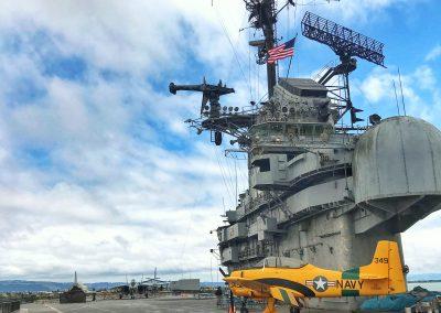 Flugdeck der USS Hornet