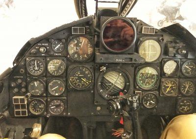 Cockpit eines F-86 Sabre Kampfjets (Marine-Version), Einsatz im Korea-Krieg