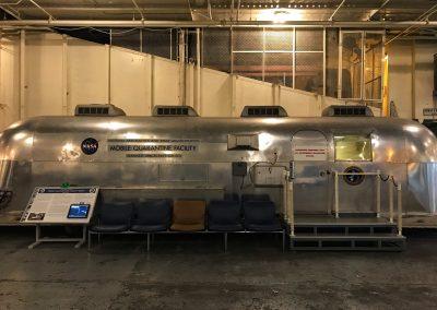 Quarantäne-Kabine für die Apollo-Astronauten. Wurde lediglich bei den ersten beiden Apollo-Missionen in Anspruch genommen