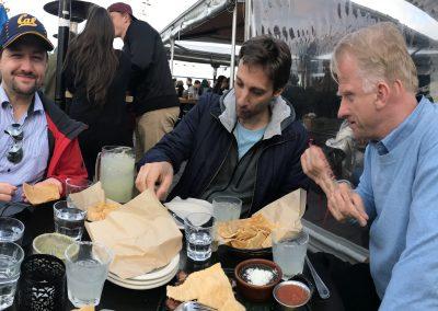 """Abendsnack in Rooftop Bar """"El Techo"""" (Mission Street) mit Kollegen und Frozen Margharitas"""