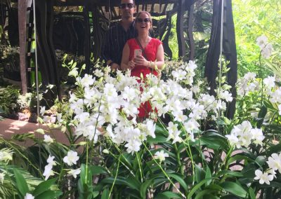 Orchideenselfie
