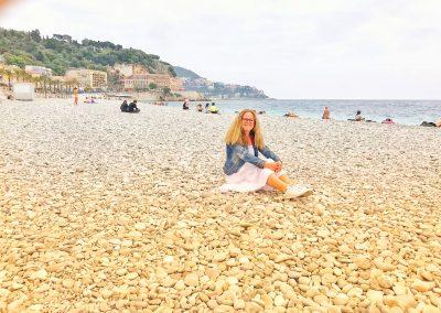 Am Strand von Nizza