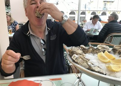 Ganz wichtig, Austern essen im Cafe Turin