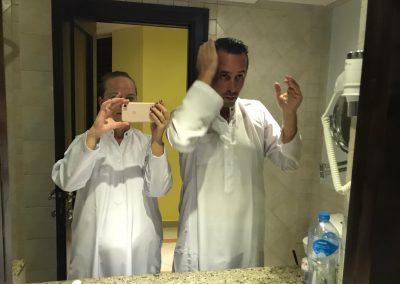 Vorbereitungen für die arabische Nacht